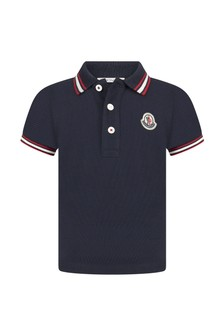 Moncler Enfant Cotton Polo Top