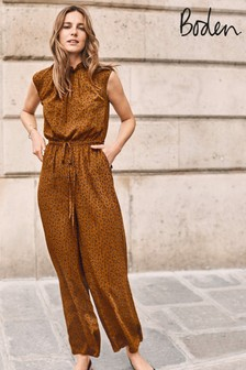 Boden Brown Melody Jumpsuit
