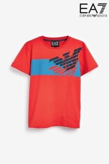 Emporio Armani EA7 Boys Eagle Logo T-Shirt