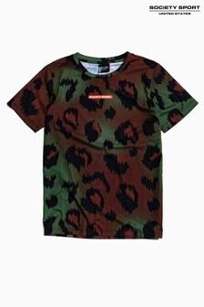 Society Sport Kids Multi Animal Print T-Shirt
