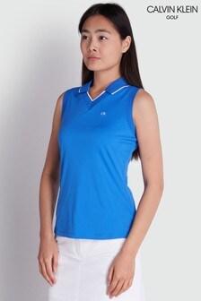 Calvin Klein Golf Blue Caspian Sleeveless Polo