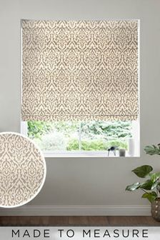 Tamsin Pewter Natural Made To Measure Roman Blind