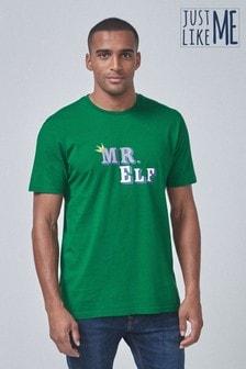 Herren-T-Shirt mit Elfen-Motiv (Familienkollektion)