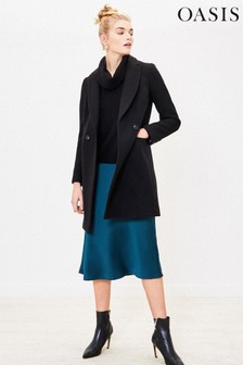 Oasis Black London Tailored Coat