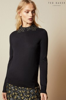 Ted Baker Black Embellishment Detail Jumper