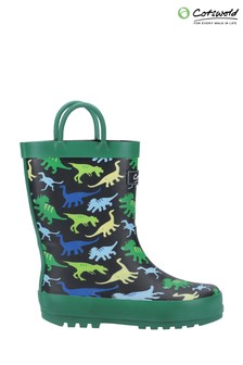 Cotswold Green Sprinkle Junior Wellington Boots