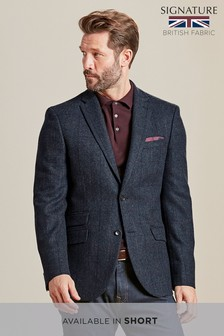 Signature British Wool Slim Fit Moons Blazer