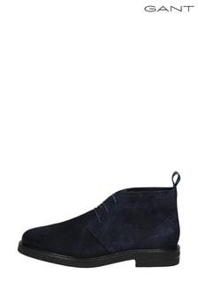 GANT Blue Fargo Mid Lace Boots