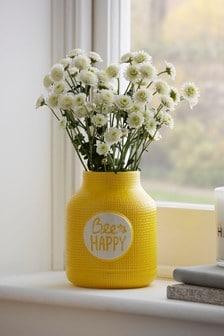 Bee Happy Vase