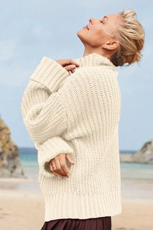 Emma Willis Chunky Funnel Neck Jumper
