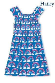 Hatley Blue Magical Rainbows Smocked Dress