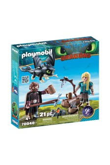 DreamWorks Dragons 70040 Hiccup And Astrid With Baby Dragon by Playmobil®
