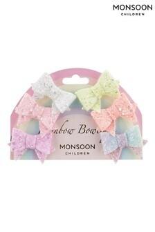Monsoon Multi Rainbow Bowtique Hair Clip Multipack