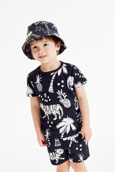 All Over Printed T-Shirt And Shorts Set (3mths-7yrs)