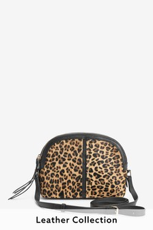 Leather Dome Across-Body Bag