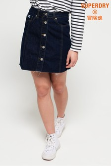 Superdry Denim A-Line Skirt