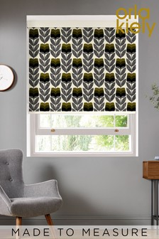 Rosebud Moss Green Made To Measure Roller Blind by Orla Kiely