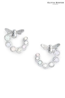 Olivia Burton Bejewelled Lucky Bee Swirl Hoop Earrings