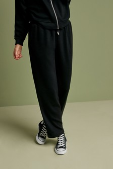 Rib Wide Leg Trousers