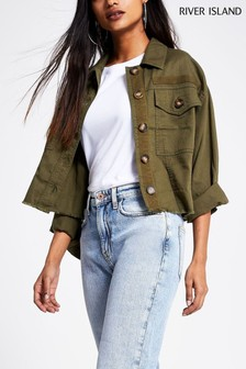 River Island Cropped Shacket