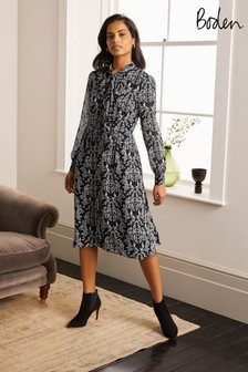 Boden Black Sylvia Shirt Dress