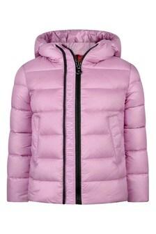 Girls Pink Down Padded Alithia Jacket