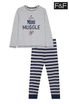 F&F Grey Marl Harry Potter Family Pyjamas