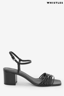 Whistles Black Multi Strappy Sandals