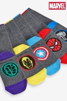 מארז5 זוגות גרביים מכותנה עשירה בדוגמת הנוקמים של מארוול® (נוער)