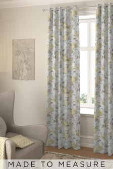Judson Lemon Gold Made To Measure Curtains