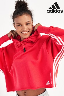 adidas Recycled Cropped Pullover Hoody