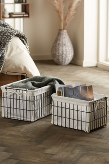 Set of 2 Bronx Storage Baskets