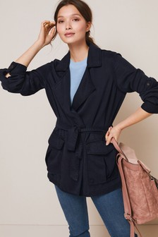 TENCEL™ Utility Tie Waist Jacket