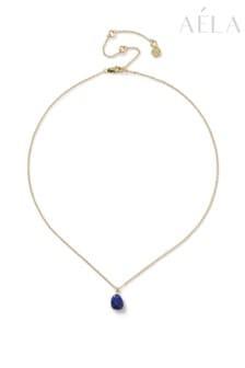 Aela Blue Semi Precious Ditsy Necklace