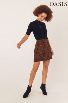 Oasis Multi Jacquard Zebra Mini Skirt