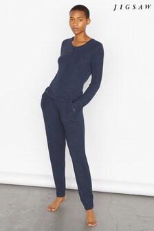 Jigsaw Blue Tia Modal Jersey Pyjamas