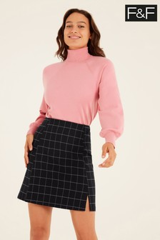 F&F Check Mini Skirt