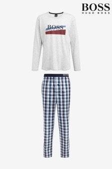 BOSS Blue Long Pyjama Set