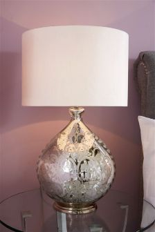 Floral Mercury Table Lamp