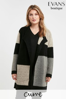 Evans Curve Patchwork Coatigan