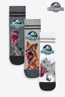 3 Pack Jurassic World Socks