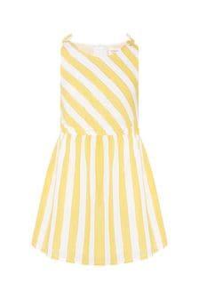 Carrement Beau Girls White Cotton Dress