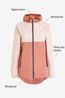 Colourblock Waterproof Rain Mac