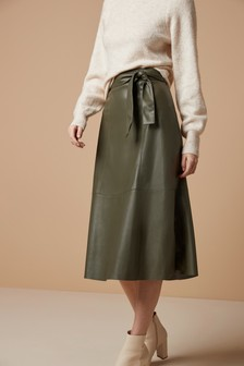 PU Leather Look Skirt