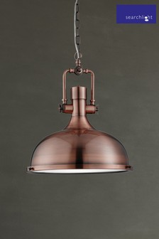 Olda 1 Light Industrial Pendant by Searchlight