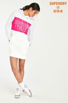 Superdry Pink Colour Block Sweat Dress