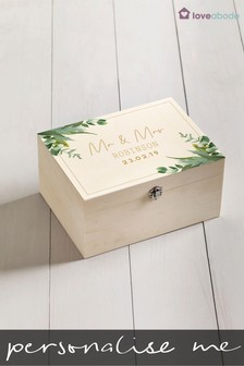 Personalised Mr & Mrs Memory Box by Loveabode