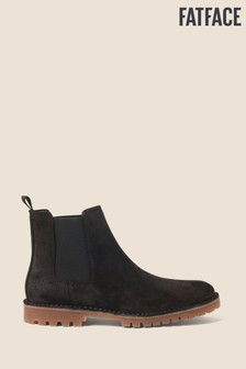 FatFace Black Corby Chelsea Boots