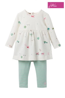 Joules Christina Printed Dress And Leggings Set