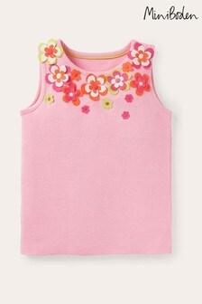Boden Pink Flutter Flower Vest
